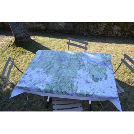Carte IGN tissu enduit Forêt de Fontainebleau