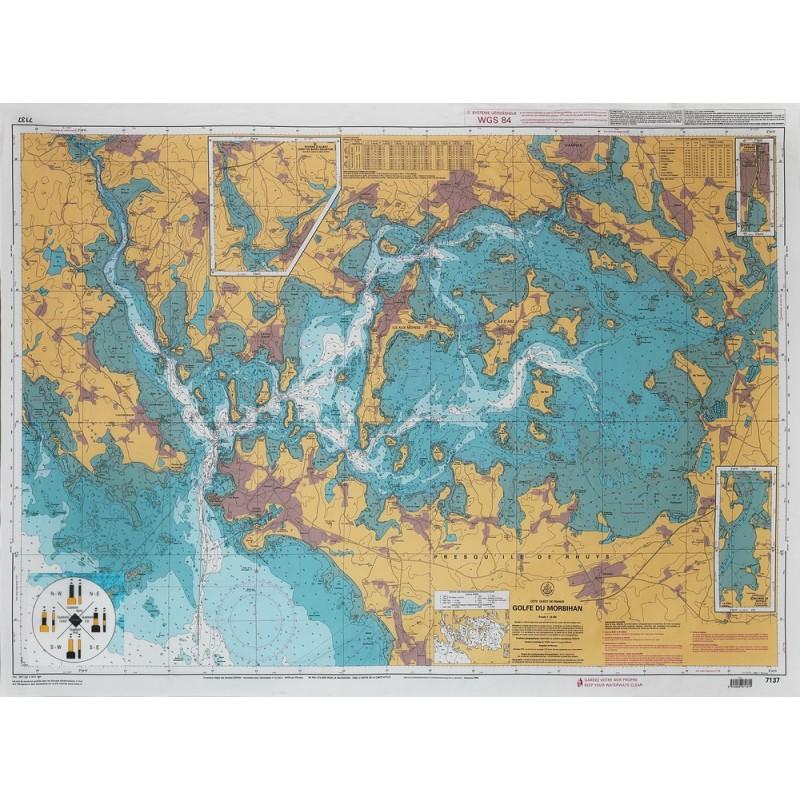 Carte Golfe Du Morbihan A Imprimer.Nap Map Shom Enduite Golfe Du Morbihan 210 150