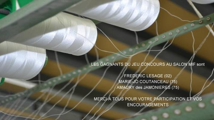 Résultats jeu concours au salon made in France