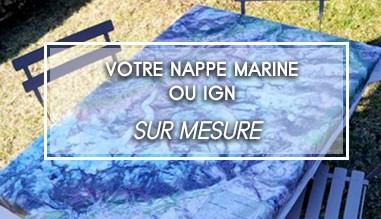 Nappe IGN ou marine personnalisée sur-mesure